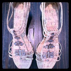 New York Transit Tan Wedge Sandals